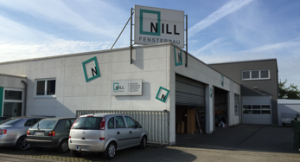 Das Firmengelände von Fensterbau Nill